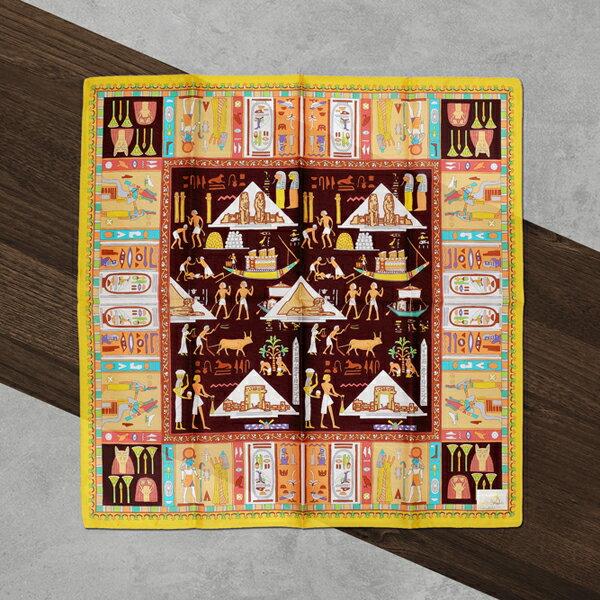 日本集采苑-KodaibunmeiSeries古代文明手帕方巾頭巾(深棕)《日本設計製造》《全館免運費》