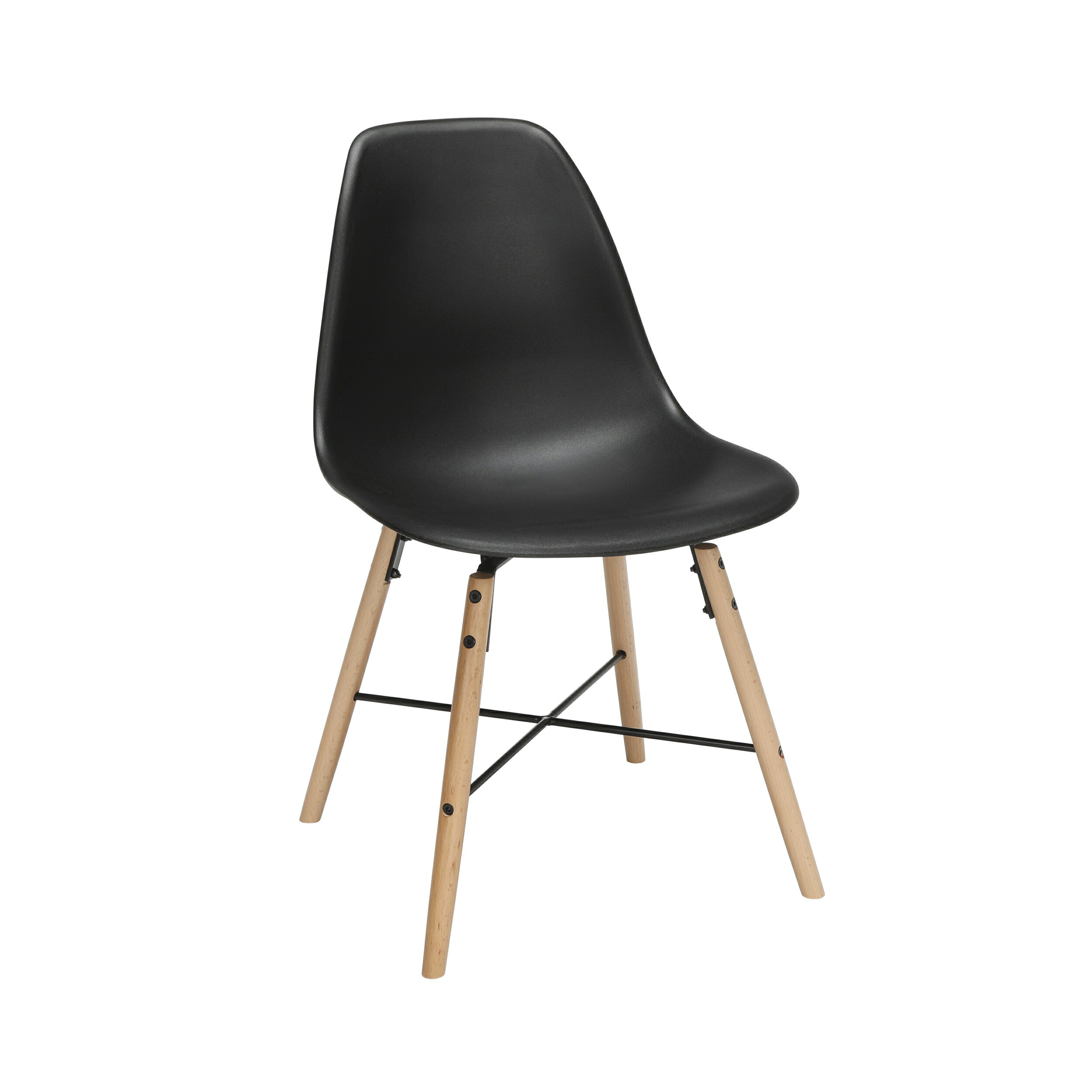 Astounding Ofm 161 Collection Mid Century 4 Pack Modern 18 Plastic Molded Dining Chairs Beechwood Legs With Wire Accent In Black 161 P18A Blk 4 Alphanode Cool Chair Designs And Ideas Alphanodeonline