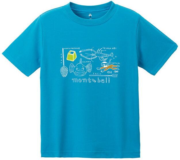 Mont-Bell 兒童排汗短T/幼童排汗衣 Wickron 1114263 1114264 SEBL 川遊 岩藍