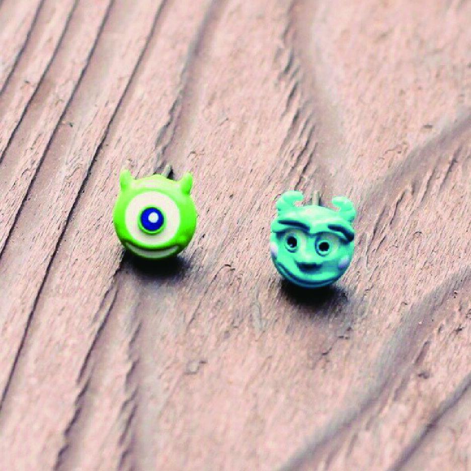怪獸大學耳環