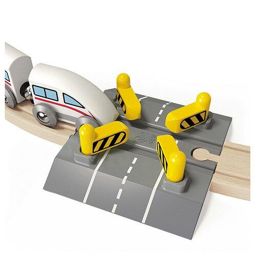 【免運費】《 德國 Hape 愛傑卡》 軌道組合 - 十字路聯動門閘