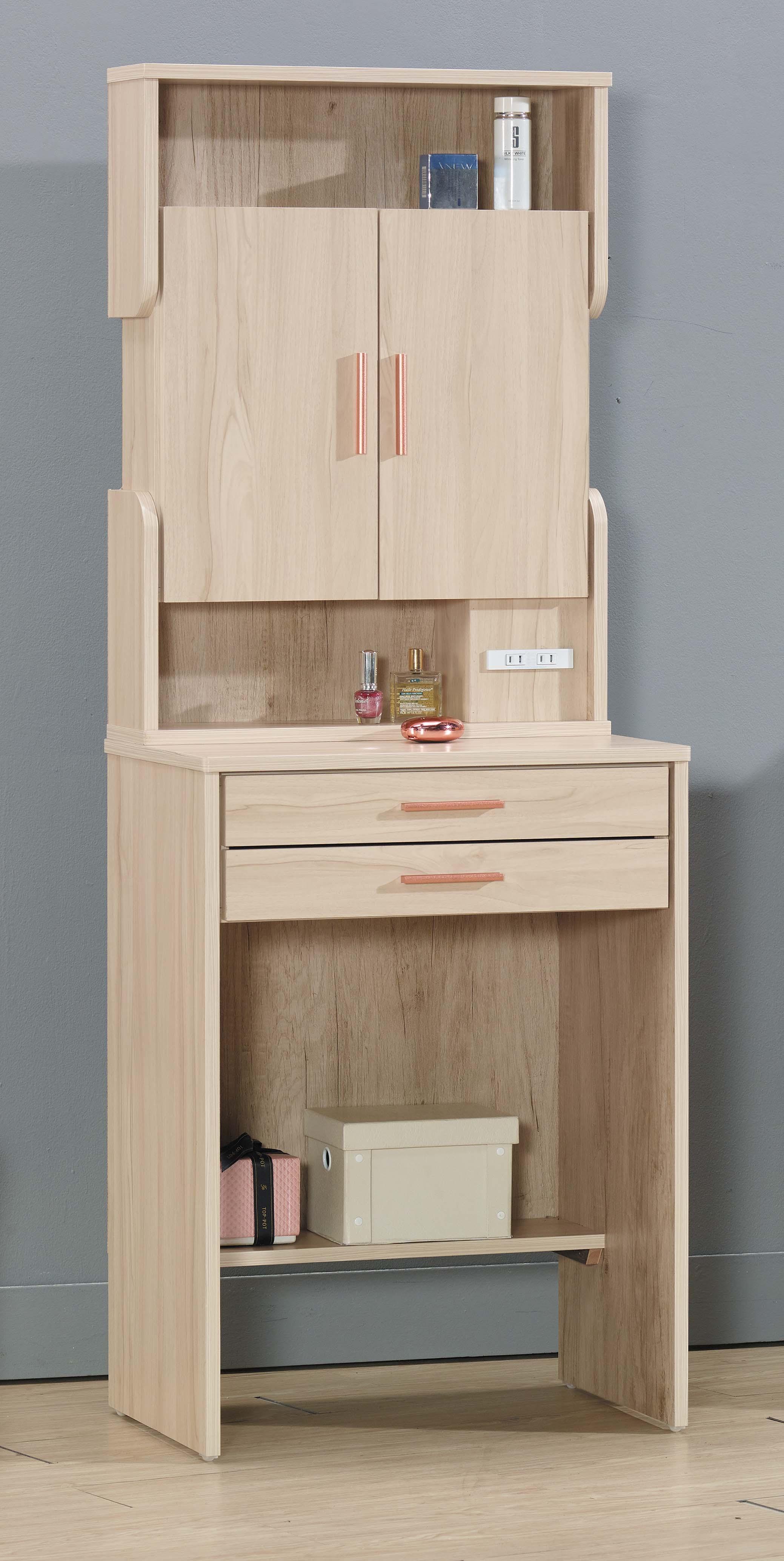 【簡單家具】,S307-5 瓦妮莎2尺鏡台-不含椅(另售立櫃),大台北都會區免運費