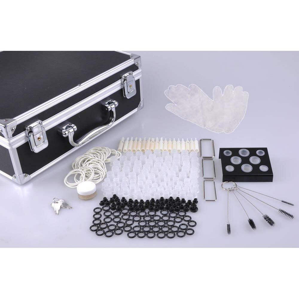 Professional Complete Tattoo Kit 8 Machine 40 Ink Gun Power Supply Grip Tip Set 6