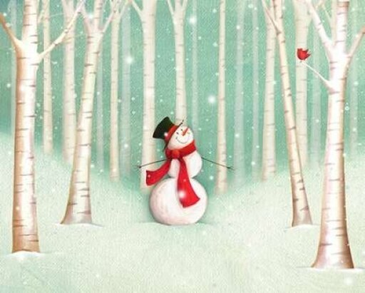Holiday Joys Snowman Rolled Canvas Art - PS Art Studios (8 x 10) e5ed4dcd98c9e3864b54a0d5c7180307