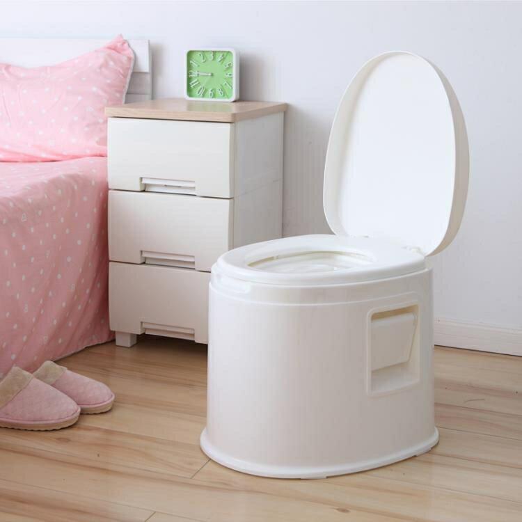 可行動馬桶加厚成人家用老人帶蓋防臭痰盂室內尿盆舒適孕婦坐便器