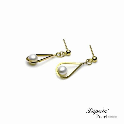 大東山珠寶 珍藏 14K金天然淡水珍珠耳環 歐美古典編織珠寶 4