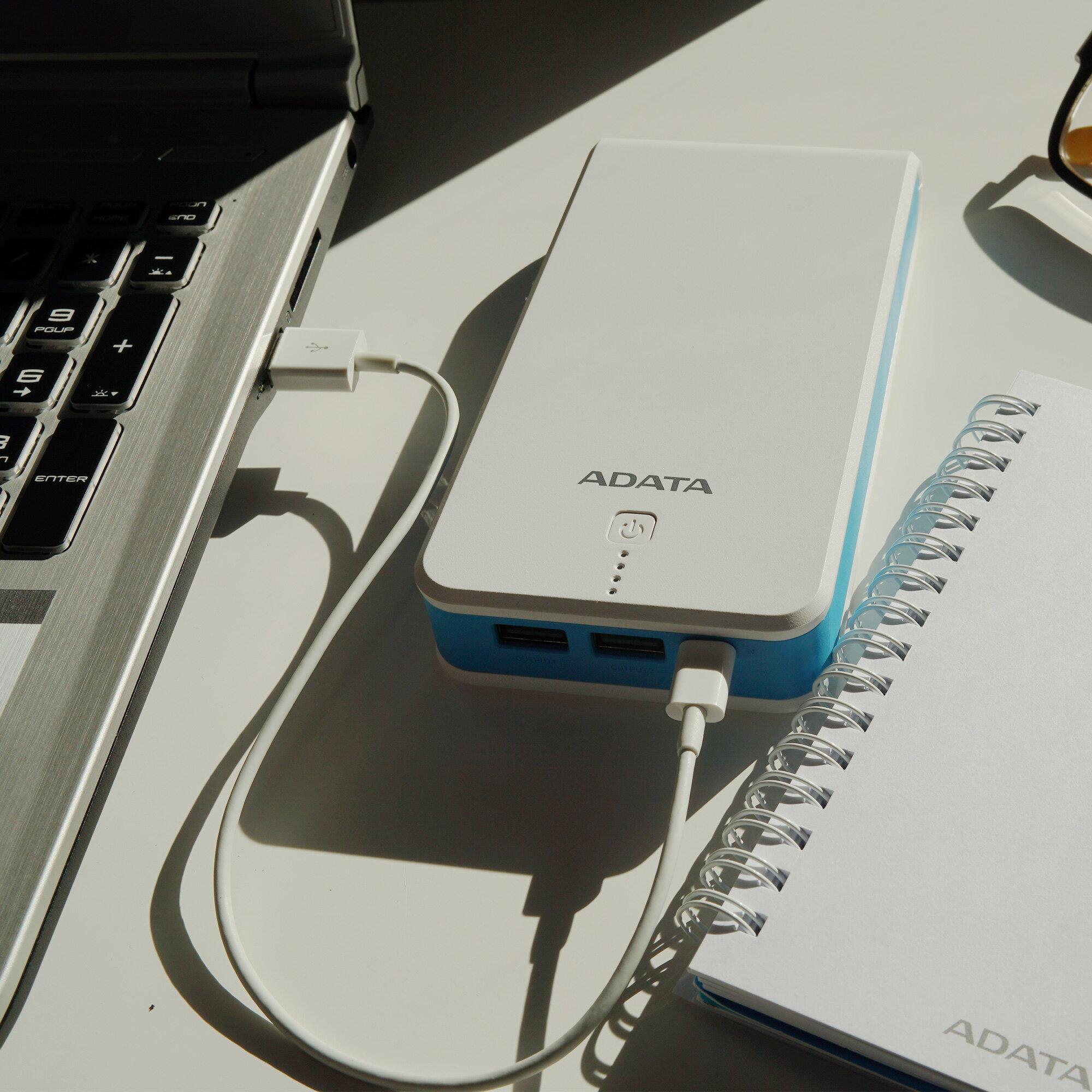 ADATA P20100 20000 mAh 2.1A Power Bank - White (AP20100-5V-CWHBL) 9