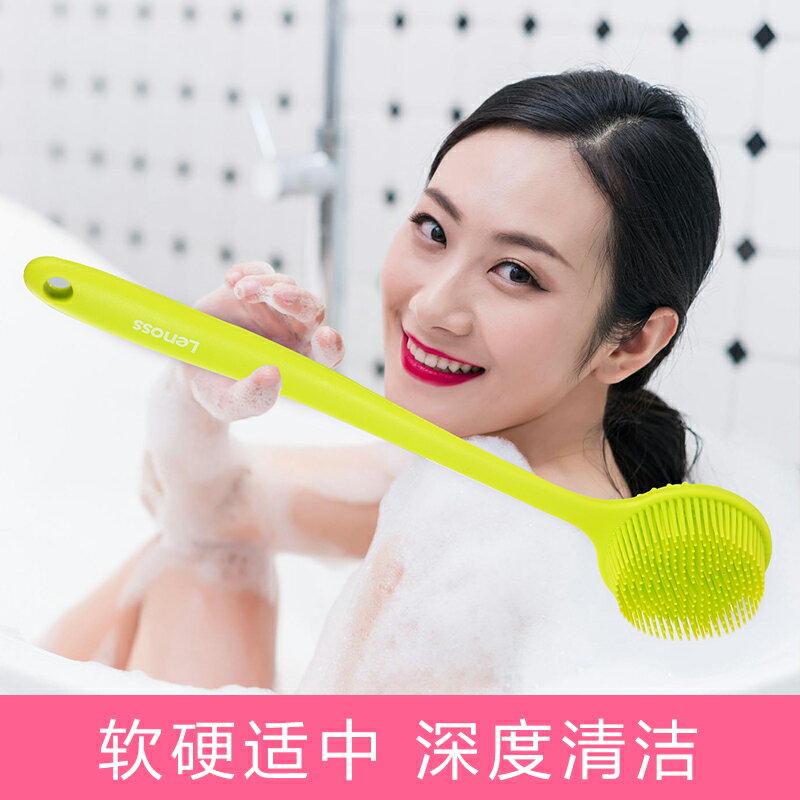 硅膠長柄洗澡刷神器長毛沐浴刷按摩刷搓背軟刷搓澡刷洗浴不求人