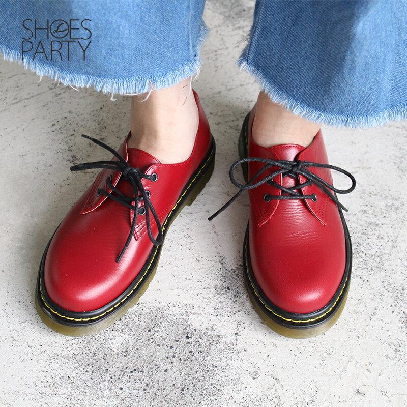 【C2-17122L】全真皮軟鞋墊3孔綁帶厚底休閒鞋_Shoes Party 4