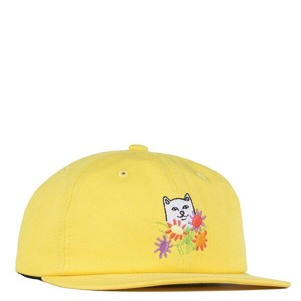 【EST】RipndipNermcasso6PanelStrapback貓比花嬌老帽黃[RD-0180-021]I0507