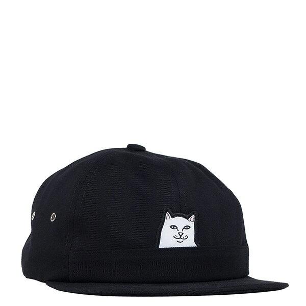 【EST】RipndipLordNermal6PanelPocketHat中指貓老帽黑[RD-0182-002]I0507