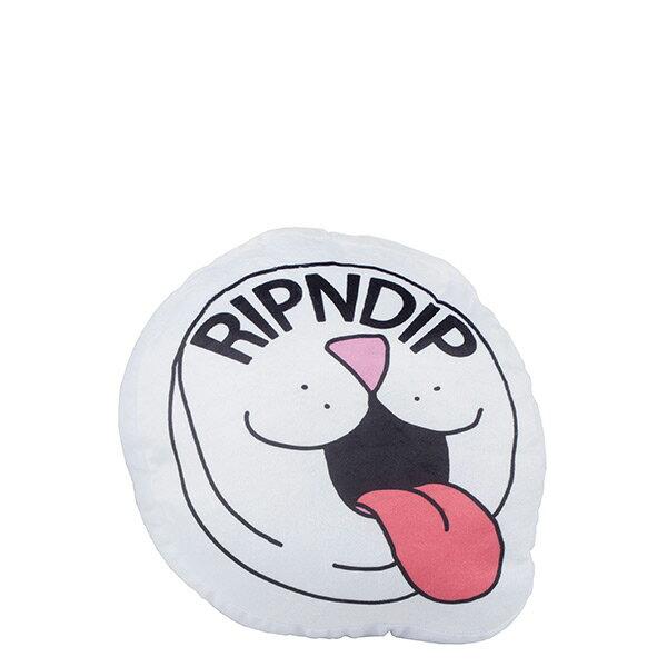 【EST】RipndipPillPlushPillow中指貓糖果貓抱枕白[RD-0186-001]I0507