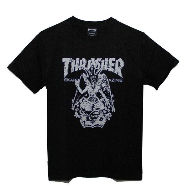 【EST】Thrasher日版BAPHOMETORIGINALSKATE羊角火焰短TEE黑[TH-0085-002]I0423