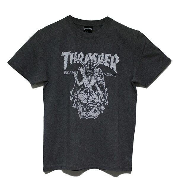 【EST】Thrasher日版BAPHOMETORIGINALSKATE羊角火焰短TEE灰[TH-0085-007]I0423
