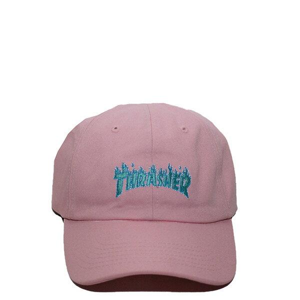 【EST】Thrasher日版TH0318-HT01電繡LOGO藍火焰老帽棒球帽粉[TH-0090-065]I0423