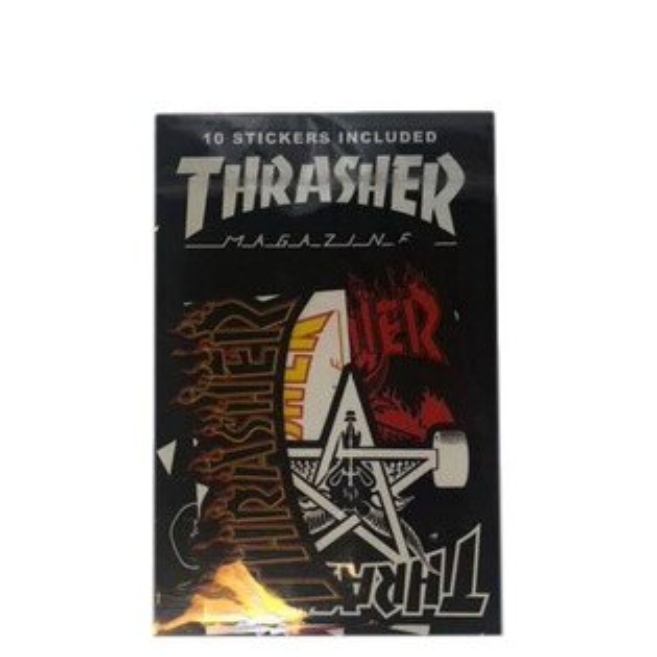 【EST】Thrasher日版TH0318-AC01StickerPack貼紙組合一包十張[TH-0093-XXX]I0524