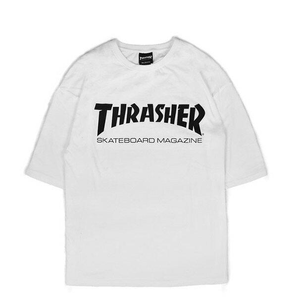 【EST】Thrasher日版SkateMagOversizeLogo五分袖短Tee白[TH-0094-001]I0524