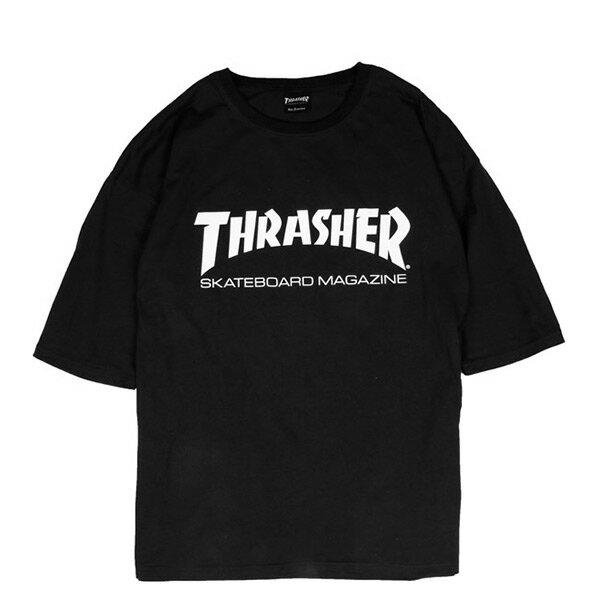 【EST】Thrasher日版SkateMagOversizeLogo五分袖短Tee黑[TH-0094-002]I0524
