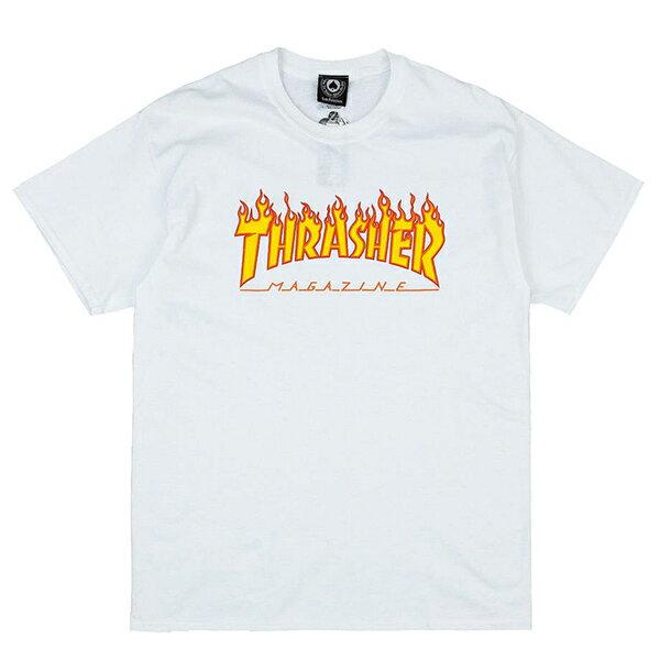 【EST】Thrasher Flame Logo Tee 火焰 白  權志龍 GD [TH-0001-001] G0804 - 限時優惠好康折扣