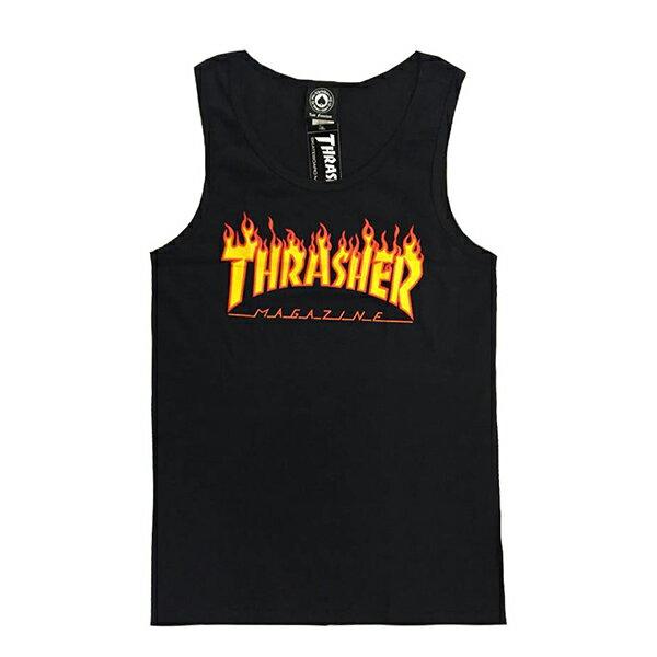 【EST】Thrasher Flame Tank 背心 火焰 Gd Th-0002 黑/白/灰/桃紅 [TH-0001] G0804