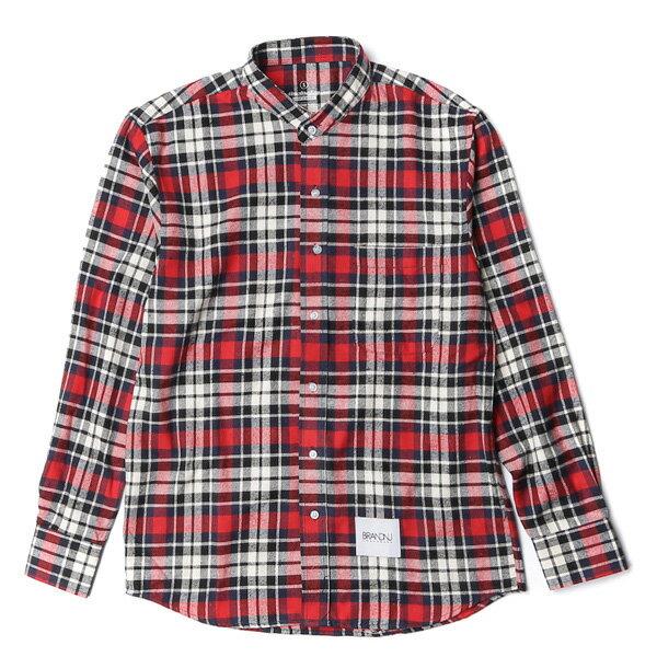 【EST】BRANDNU FY$ FLANNEL SHIRTS 法蘭絨 格紋 長袖 襯衫 紅 [BN-0007-069] G0208 0