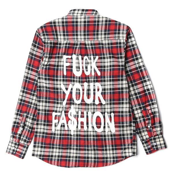 【EST】BRANDNU FY$ FLANNEL SHIRTS 法蘭絨 格紋 長袖 襯衫 紅 [BN-0007-069] G0208 1