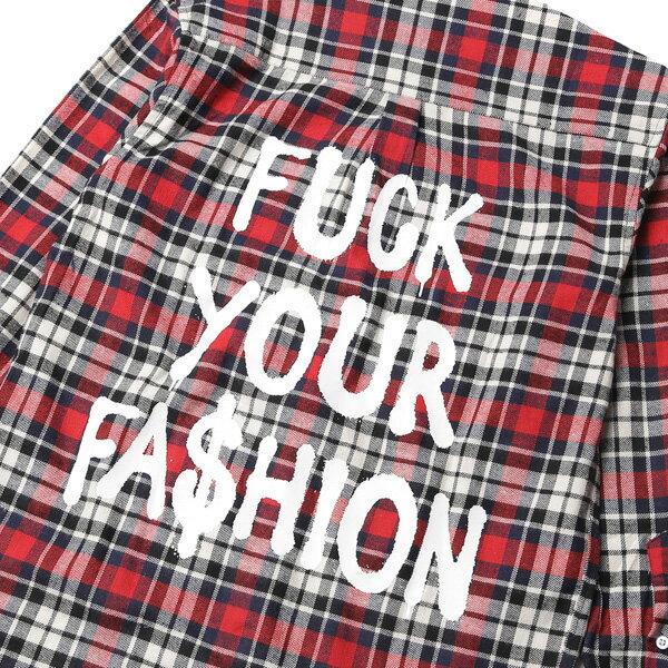 【EST】BRANDNU FY$ FLANNEL SHIRTS 法蘭絨 格紋 長袖 襯衫 紅 [BN-0007-069] G0208 4