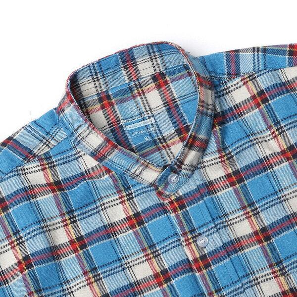 【EST】BRANDNU FY$ FLANNEL SHIRTS 法蘭絨 格紋 長袖 襯衫 藍 [BN-0007-086] G0208 2