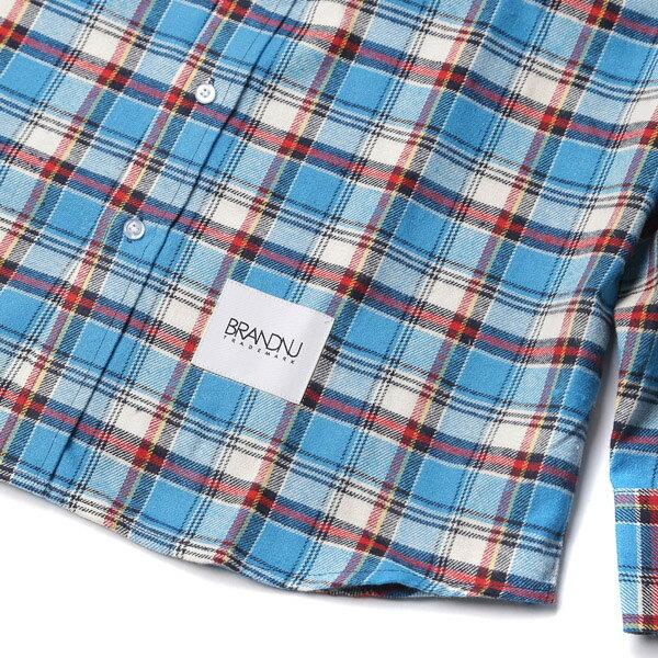 【EST】BRANDNU FY$ FLANNEL SHIRTS 法蘭絨 格紋 長袖 襯衫 藍 [BN-0007-086] G0208 3