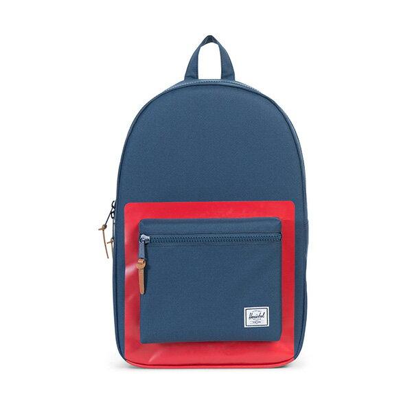 【EST】HERSCHEL SETTLEMENT 15吋電腦包 後背包 紅印 藍 [HS-0005-B52] G0801