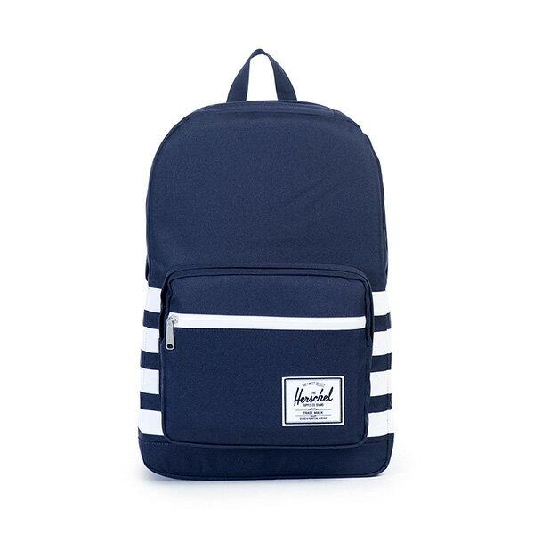 【EST】HERSCHEL POP QUIZ 15吋電腦包 後背包 條紋 藍 [HS-0011-903] G0122 0
