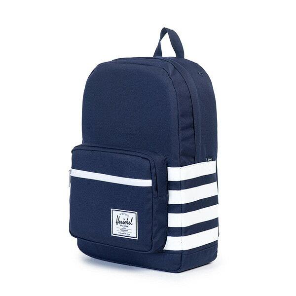 【EST】HERSCHEL POP QUIZ 15吋電腦包 後背包 條紋 藍 [HS-0011-903] G0122 2