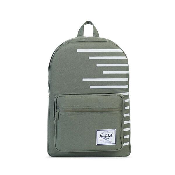【EST】HERSCHEL POP QUIZ 15吋電腦包 後背包 OFFSET系列 條紋 綠 [HS-0011-A41] G0706 0
