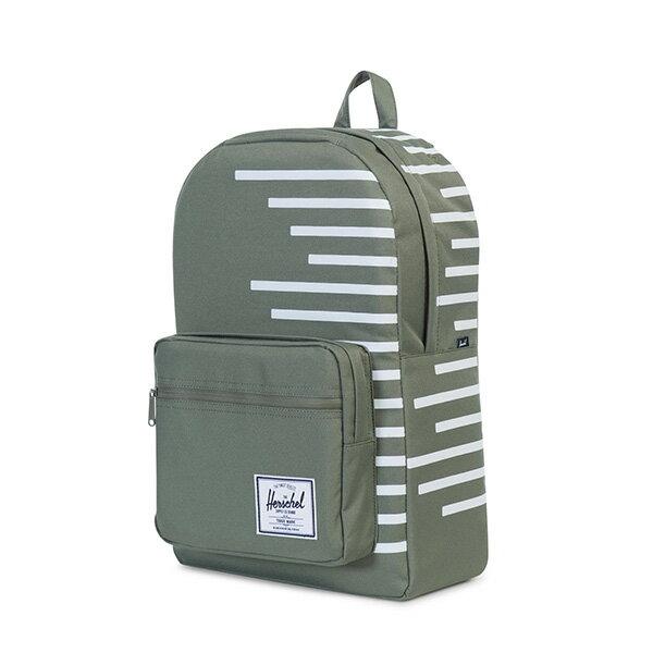 【EST】HERSCHEL POP QUIZ 15吋電腦包 後背包 OFFSET系列 條紋 綠 [HS-0011-A41] G0706 2
