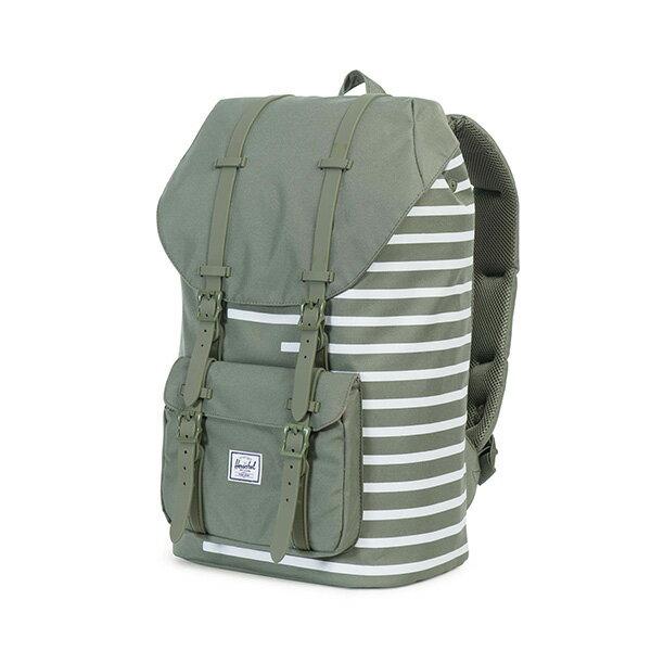 【EST】HERSCHEL LITTLE AMERICA 15吋電腦包 後背包 OFFSET系列 條紋 綠 [HS-0014-A41] G0414 2