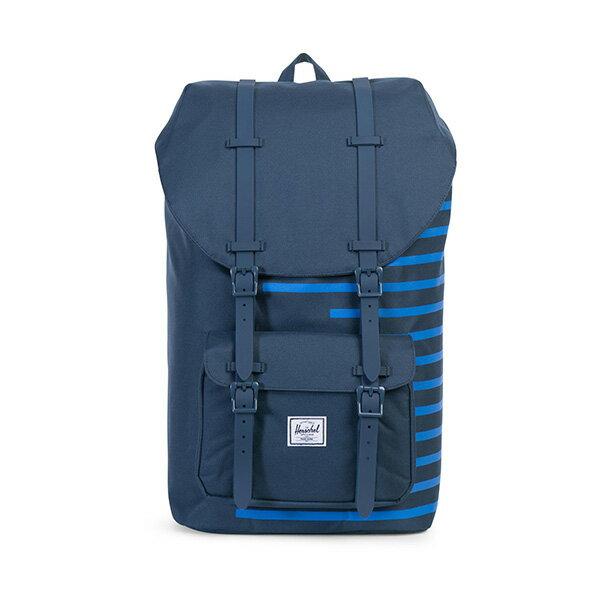 【EST】HERSCHEL LITTLE AMERICA 15吋電腦包 後背包 OFFSET系列 條紋 藍 [HS-0014-A42] G0414 0