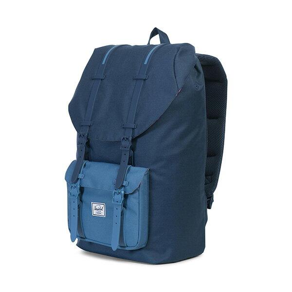 【EST】Herschel Little America 15吋電腦包 後背包 拼色 藍 [HS-0014-A58] G0414 2