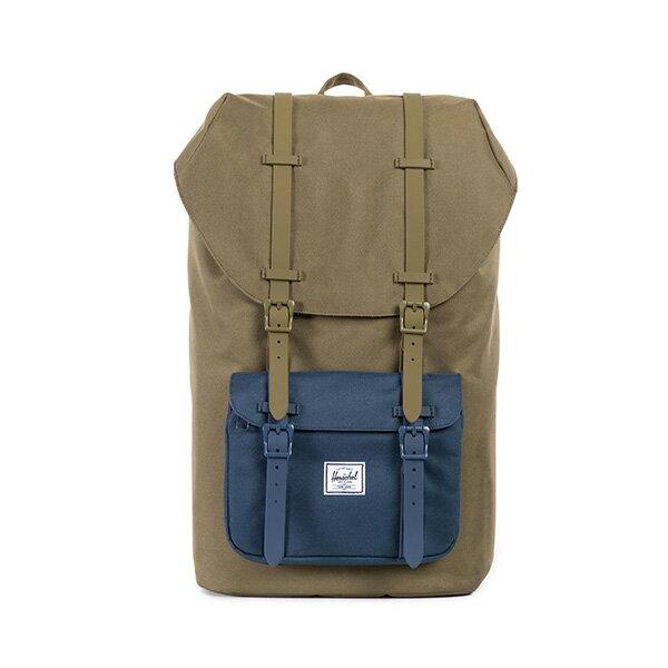 【EST】HERSCHEL LITTLE AMERICA 15吋電腦包 後背包 拚色 綠藍 [HS-0014-755] G0706 0