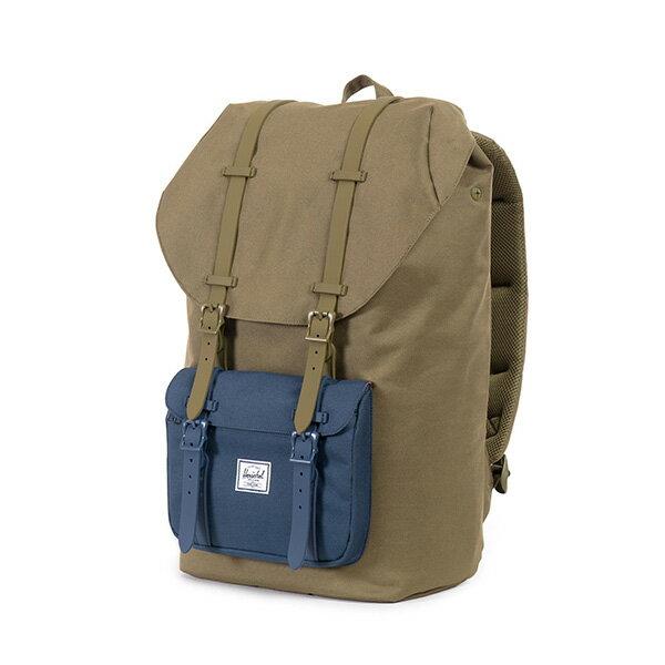 【EST】HERSCHEL LITTLE AMERICA 15吋電腦包 後背包 拚色 綠藍 [HS-0014-755] G0706 2