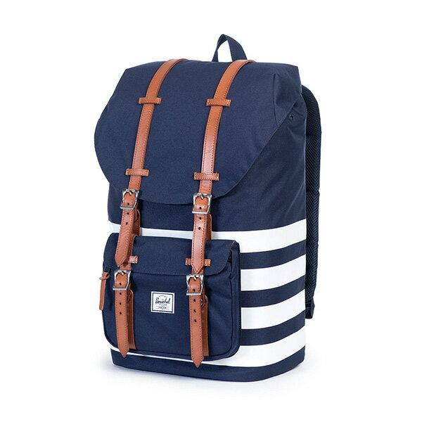 【EST】HERSCHEL LITTLE AMERICA 15吋電腦包 後背包 條紋 藍 [HS-0014-903] G0122 2