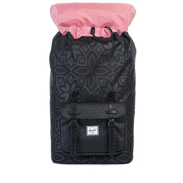 【EST】HERSCHEL LITTLE AMERICA 15吋電腦包 後背包 膠條 印花 黑 [HS-0014-922] G0122 1