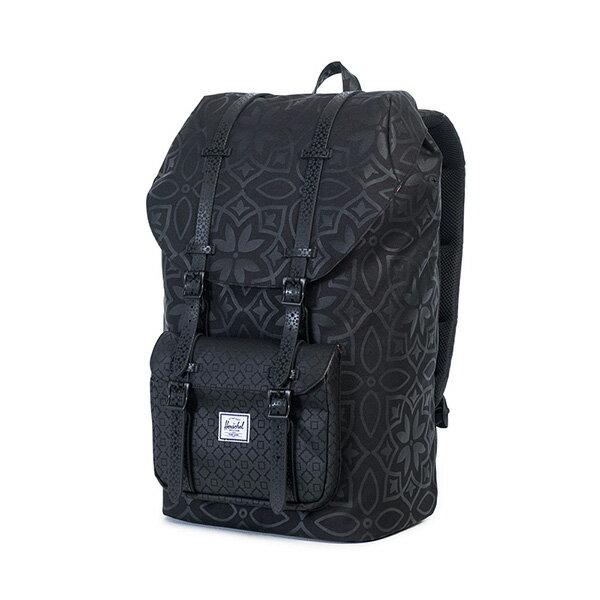 【EST】HERSCHEL LITTLE AMERICA 15吋電腦包 後背包 膠條 印花 黑 [HS-0014-922] G0122 2