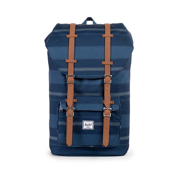 【EST】HERSCHEL LITTLE AMERICA 15吋電腦包 後背包 條紋 藍 [HS-0014-925] G0122 0