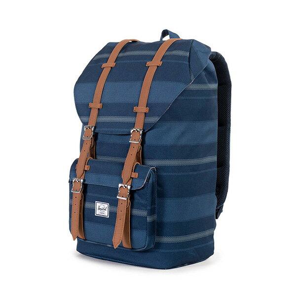 【EST】HERSCHEL LITTLE AMERICA 15吋電腦包 後背包 條紋 藍 [HS-0014-925] G0122 2