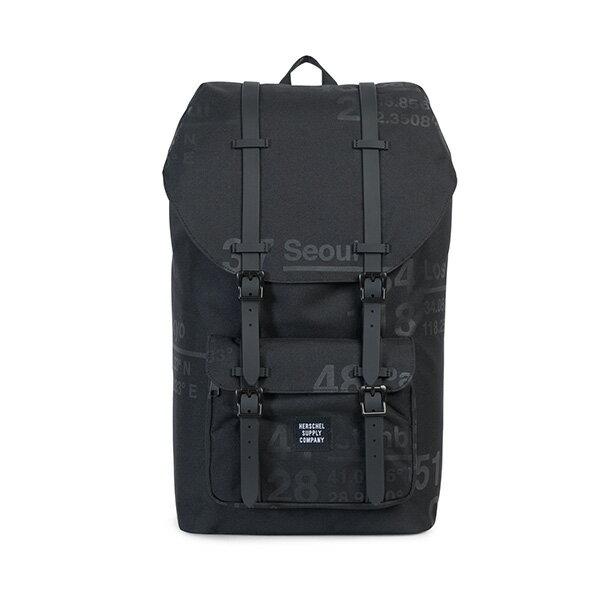 【EST】Herschel Little America 15吋電腦包 後背包 城市緯度 黑 [HS-0014-B46] G0801 0