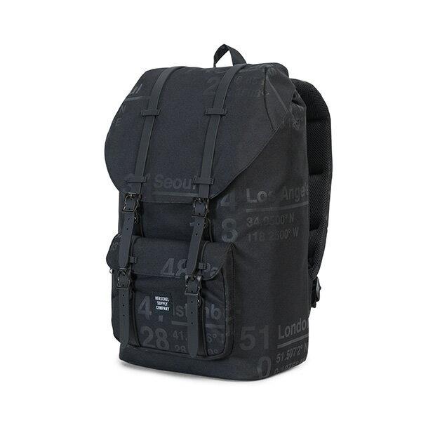【EST】Herschel Little America 15吋電腦包 後背包 城市緯度 黑 [HS-0014-B46] G0801 2