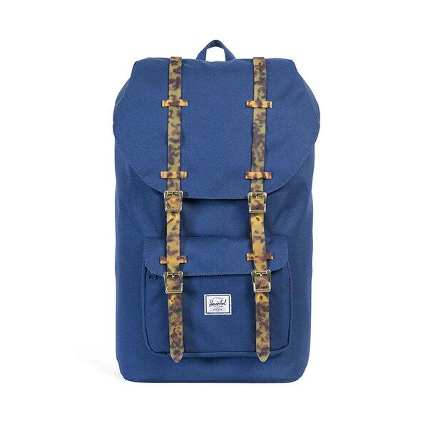 【EST】HERSCHEL LITTLE AMERICA 15吋電腦包 後背包 玳瑁 膠條 藍 [HS-0014-B55] G0801 0