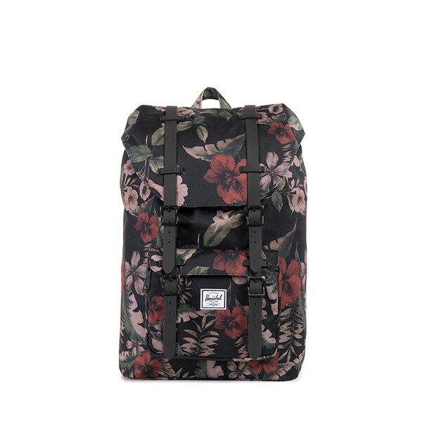 【EST】HERSCHEL LITTLE AMERICA MID 中款 13吋電腦包 後背包 花卉 [HS-0020-910] G0122 0