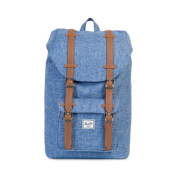 【EST】Herschel Little America Mid 中款 13吋電腦包 後背包 淺藍十字織布 [HS-0020-918] H0112