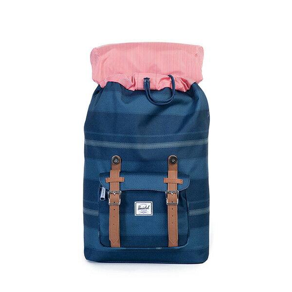 【EST】HERSCHEL LITTLE AMERICA MID 中款 13吋電腦包 後背包 條紋 藍 [HS-0020-925] G0122 1